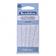 Beadalon Collapsible Eye Needles 6.4mm fine Silver