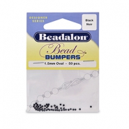 Beadalon Bead Bumpers 1.5mm Black