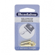 Beadalon Slide Connector (20 mm) with Lobster and Extension Clasp 5 cm Gold