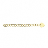 Beadalon Extension Chain 5cm Heart Gold