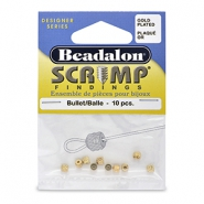Beadalon Scrimps 3.6mm Gold