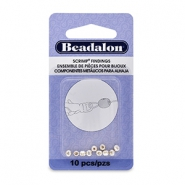 Beadalon Scrimps Oval 3.5mm Silver