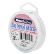 Beadalon nici ciękie Supplemax 0,25mm 25 metrów biały