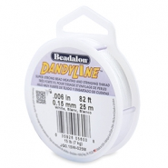 Beadalon stringing wire Dandyline 0.15mm White