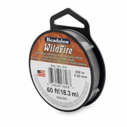 Beadalon Wildfire wire 0,20mm szary
