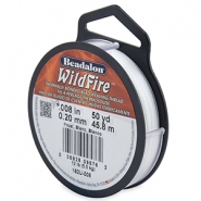 Beadalon Wildfire wire 0,20mm biały las