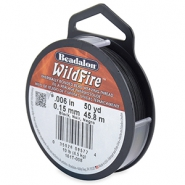 Beadalon Wildfire wire 0,15mm czarny