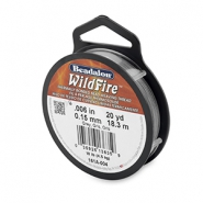 Beadalon Wildfire wire 0,15mm szary