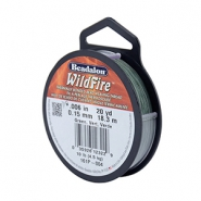 Beadalon Wildfire wire 0,15mm zielony