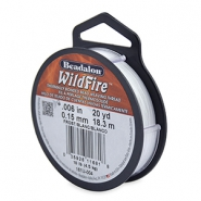 Beadalon Wildfire wire 0,15mm biały las