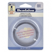 Beadalon German Style Wire 26Gauge Round Hematite