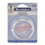 Beadalon German Style Wire 26Gauge Round Silver