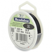 Beadalon stringing wire 7 strand 0.51mm Black