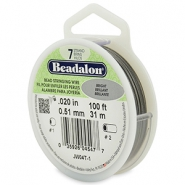 Beadalon stringing wire 7 strand 0.51mm Bright Stainless Steel