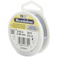 Beadalon stringing wire 19 strand 0.46mm Satin Silver