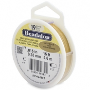 Beadalon stringing wire 19 strand 0.38mm Gold