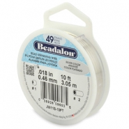 Beadalon stringing wire 49 strand 0.46mm Silver