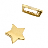 DQ European metal sliders star Ø10.2x2.2mm Gold (nickel free)