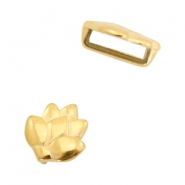 DQ European metal sliders lotus Ø10.2x2.2mm Gold (nickel free)