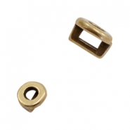DQ European metal sliders round Ø3.2x1.8mm Antique Bronze (nickel free)