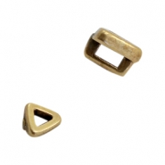 DQ European metal sliders triangle Ø3.2x1.8mm Antique Bronze (nickel free)