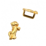 DQ European metal sliders unicorn Ø5.2x2.2mm Gold (nickel free)