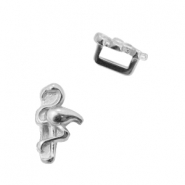 DQ European metal sliders flamingo Ø5.2x2.2mm Antique Silver (nickel free)