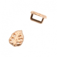 DQ European metal sliders leaf Ø5.2x2.2mm Rose Gold (nickel free)