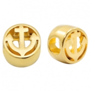 DQ European metal sliders anchor Ø4.8mm Gold (nickel free)
