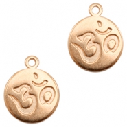 DQ European metal charms ohm Rose Gold (nickel free)