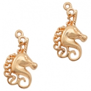 DQ European metal charms unicorn Rose Gold (nickel free)