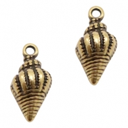 DQ European metal charms shell Antique Bronze (nickel free)