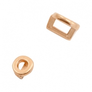 DQ European metal sliders round Ø3.2x1.8mm Rose Gold (nickel free)