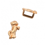 DQ European metal sliders unicorn Ø5.2x2.2mm Rose Gold (nickel free)