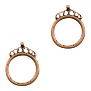 Charms TQ metal ring 18mm with crown Copper (Nickel Free)