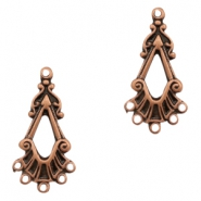 Charms TQ metal oval with 5 loops Copper (Nickel Free)