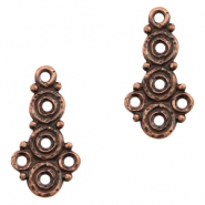 Charms TQ metal circles Copper (Nickel Free)