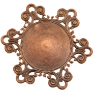 Charms TQ metal Baroque style Copper (Nickel Free)