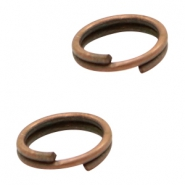 Findings TQ metal split ring/double ring 6mm Copper (Nickel Free)