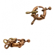 Findings TQ metal buoy ring clasp with loop Copper (Nickel Free)