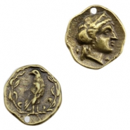 Charms TQ metal Roman coin Antique Bronze (Nickel Free)
