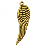 Charms TQ metal wing Antique Gold (Nickel Free)