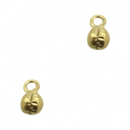 Charms TQ metal little bell 5mm Antique Bronze (Nickel Free)