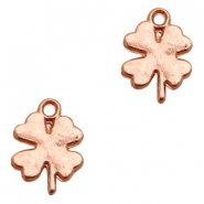 Charms TQ metal lucky clover Rose Gold (Nickel Free)