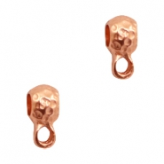 Findings TQ metal ring with loop oval Ø3mm Rose Gold (Nickel Free)