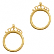 Charms TQ metal ring 18mm with crown Gold (Nickel Free)