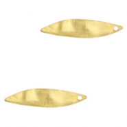 Charms TQ metal oval wave 32x10mm Gold (Nickel Free)