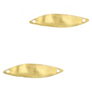 Charms TQ metal connector oval wave 25x6mm Gold (Nickel Free)
