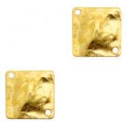 Charms TQ metal connector flat square Gold (Nickel Free)