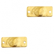 Charms TQ metal connector rectangle Gold (Nickel Free)
